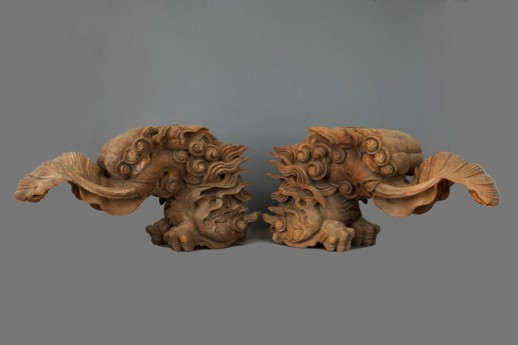 #ACC2 A Pair of Mid16th Century Carved 'Baku'