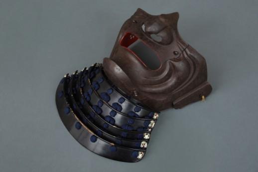#ACC318 Fine Early 18th Century Russet Iron 'Ressei' Mask Signed 'NEO MASASHIGE'