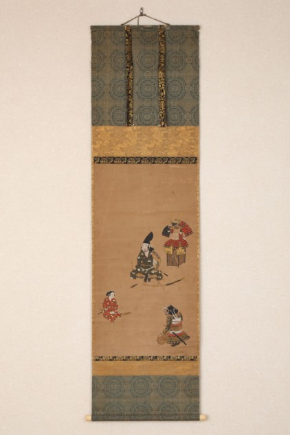 #ACC344 Late 17th Century Hanging Scroll Of A Lord & Two Vassals