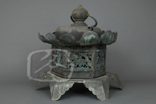 #ACC405 Large Early 19th Century Copper Hanging Lantern