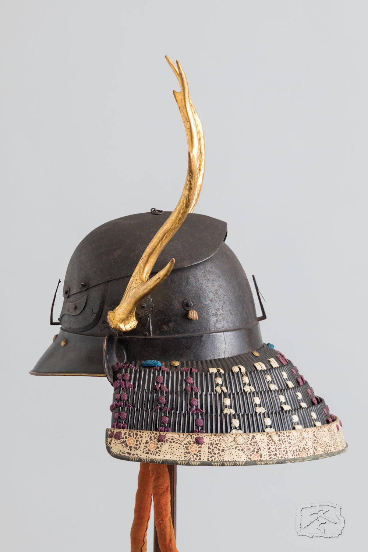 Japanese samurai Helmet kawari-kabuto OKITENUGUI saiga 雑賀 置手拭